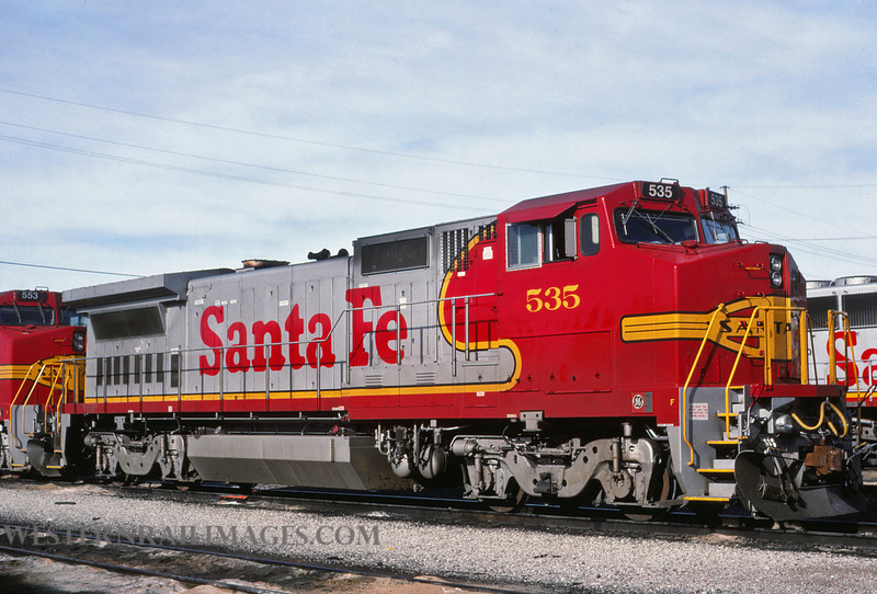ATSF 355 - Nov 26 1990 - no 535 @ Kansas City KS - by L Coone