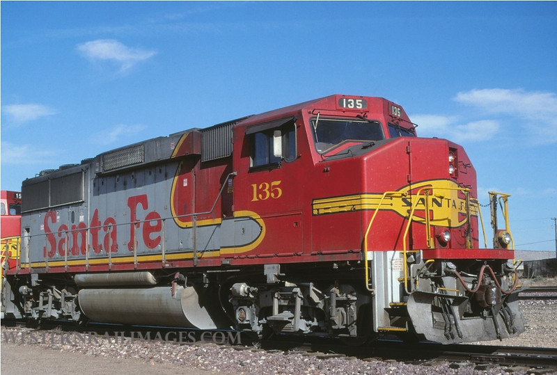 ATSF 83 - no 135 @ Winslow AZ - by L Coone
