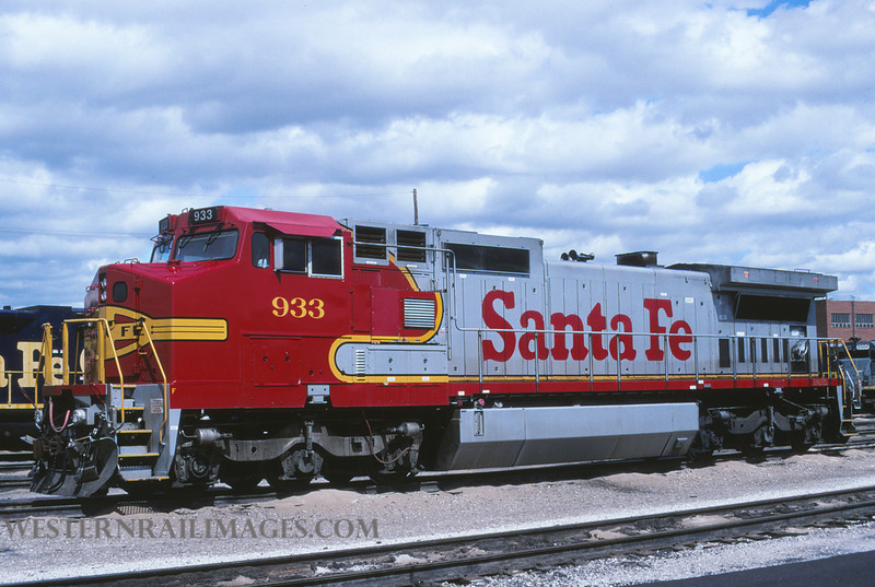 ATSF 550 - Mar 22 1995 - no 933 @ Kansas City KS by L Coone