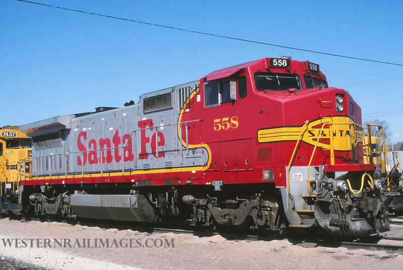 ATSF 414 - Feb 29 1996 - no 558 @ Kansas City KS - by L Coone