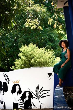 REPUBLIQUE DOMINICAINE. LA VILLE COLONIALE DE SANTO DOMINGO. SAINT DOMINGUE. L'artiste muraliste Xavier Ringers