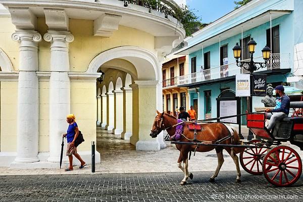 REPUBLIQUE DOMINICAINE. SANTO DOMINGO. SAINT DOMINGUE. LA RUE PIETONNE CALLE EL CONDE QUI TRAVERSE TOUTE LA ZONE COLONIALE.