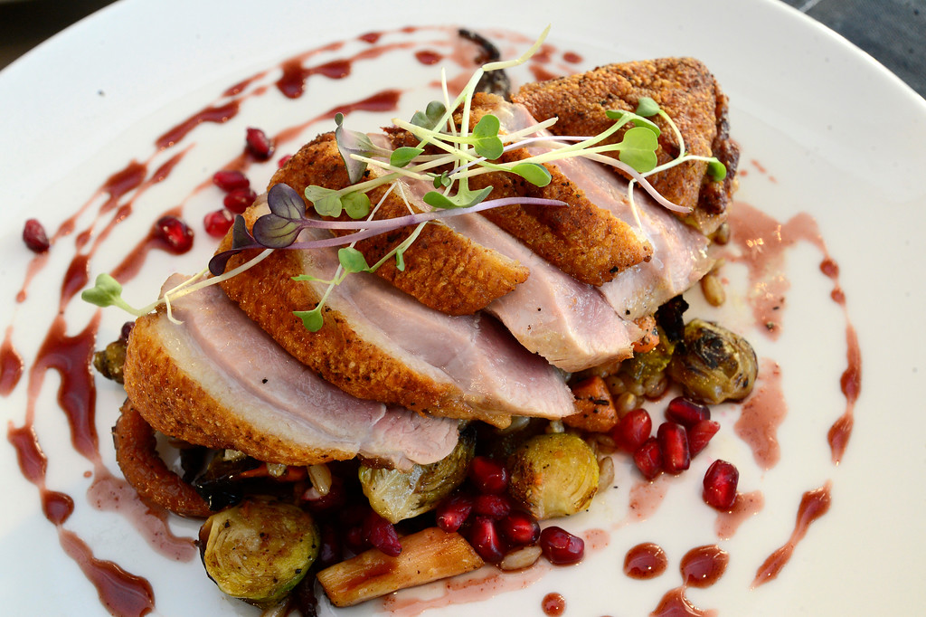 . Seared Duck Breast at Santo in Boulder.  For more photos go to dailycamera.com Paul Aiken Staff Photographer Dec 28 2017