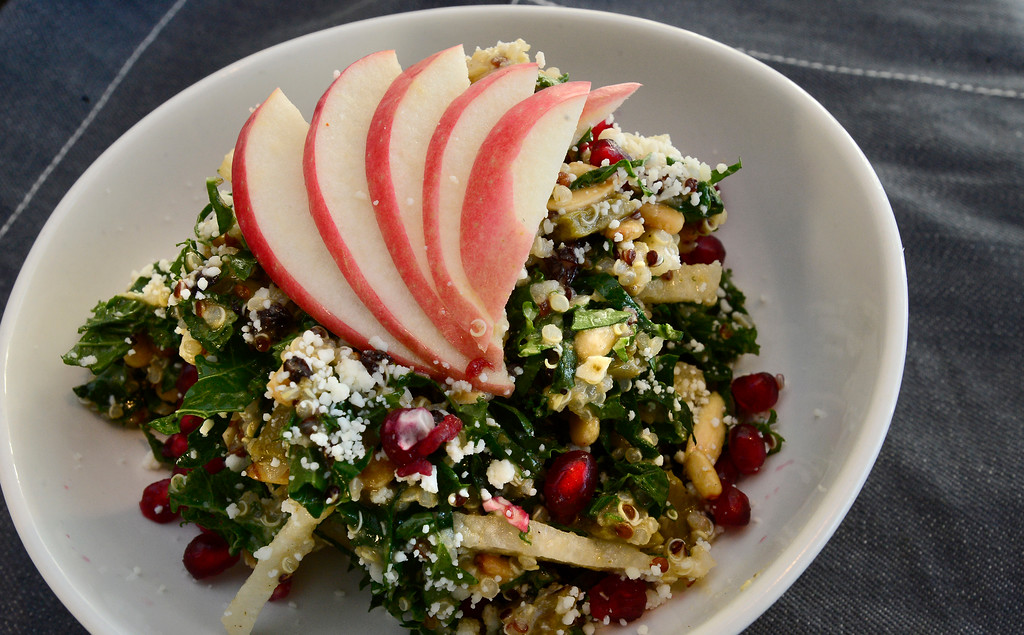 . Kale & Quinoa Salad at Santo in Boulder.  For more photos go to dailycamera.com Paul Aiken Staff Photographer Dec 28 2017