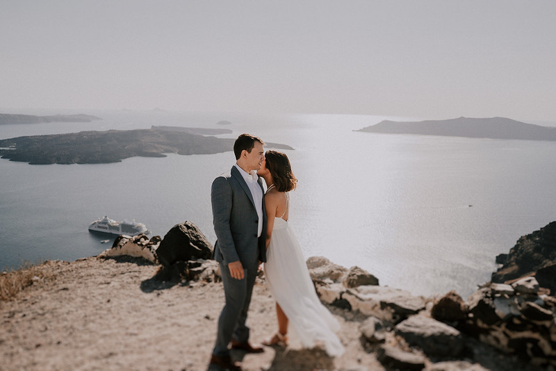 Intimate Elopement in Santorini