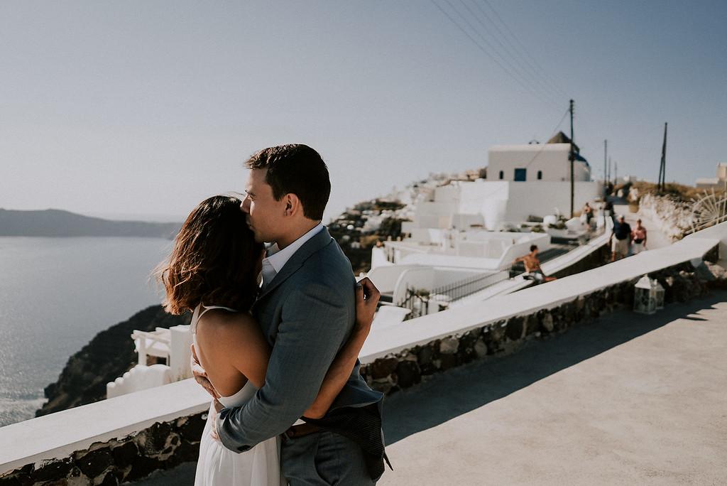 Intimate Elopement in Santorini