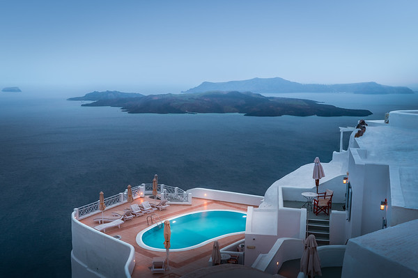 A Moody Evening! - Fira, Santorini
