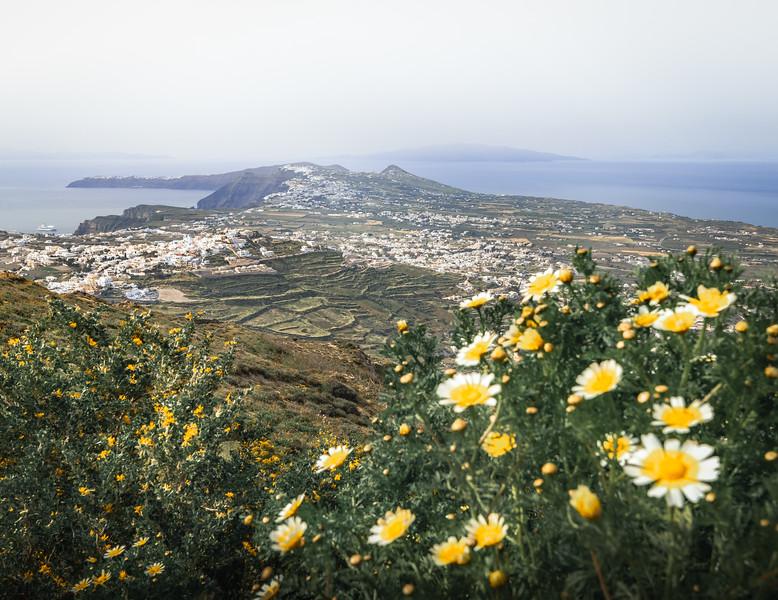 Overview! - Mount Profitis Ilias, Santorini