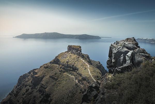 Ruins of Skaros! - Imerovigli, Santorini