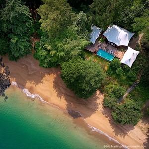 SAO TOME & PRINCIPE. ILE DE PRINCIPE.  Hotel Praia Sundy Resort.