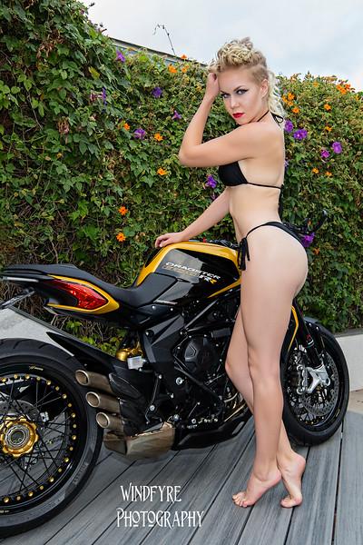 Sara, a Bike and a Pool