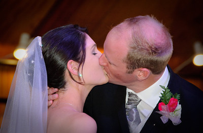 The Kiss The first kiss as Mr & Mrs Dan Riddell