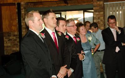 Groom Watching the Bride Enter