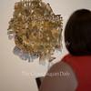 "Amy Shake looks at ""Portal Primavera"" by Atticus Adams in the Strohl Art Center for the 59th Chautauqua Annual Exhibition of Contemporary Art on June 23, 2016."