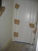 Abgeklebtes Haus am 28.2. - Malerarbeiten