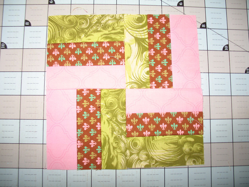 Farmers Wife Sampler Block #4 Basket Weave.