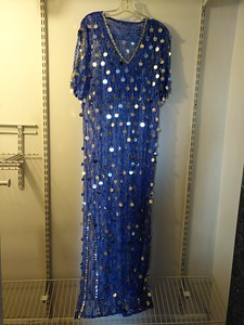 Lace balady dress with silver used, $50 US M/L