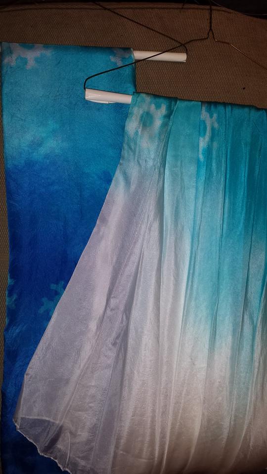 $170 Set: 2 1/2 circle veils, and a rectangle 3.5 yard veil: snowflake 015
