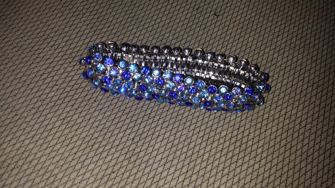 Blue rhinestone bracelet $25