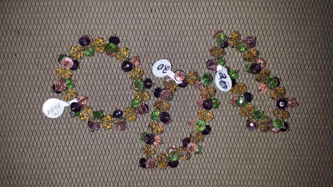 Stretchy crystal bracelets $20 each