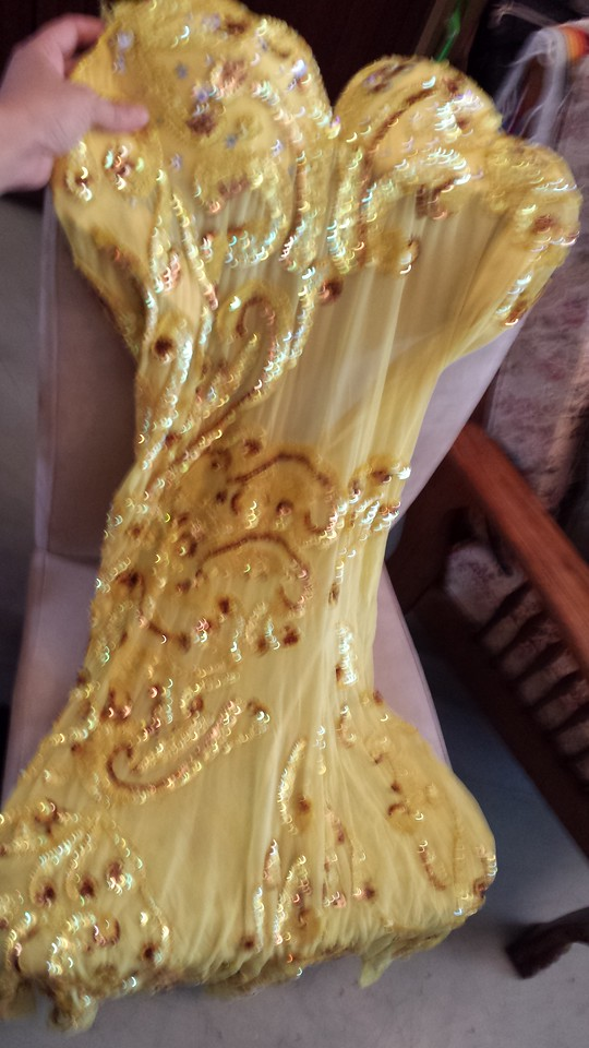 YELLOW PHARONICS OF EGYPT COSTUME FOR SALE