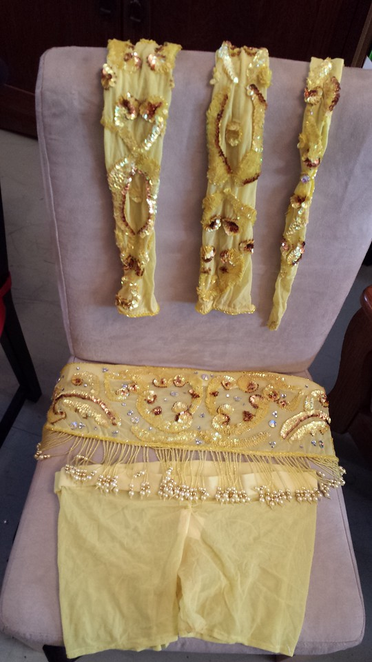 YELLOW PHARONICS OF EGYPT COSTUME FOR SALE