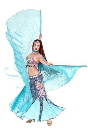 SIM Moda Famous turkish designer belly dance costume $350