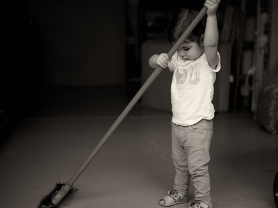 Sweeping Like Mommy