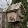 "There are only a few trees in the garden.  Instead of hanging from a tree, this bird house is mounted to a decorative metal garden stake.<br> <p style=""text-align: center; color: #777777"">- Made it to second round of voting in Seattle Shootout -</p>"