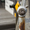 """This broken hand rail overlooks the northbound entrance to the Hwy-99 tunnel.  I love the texture of the wood in the center of the railing.<br> <p style=""""text-align: center; color: #777777"""">- Made it to second round of voting in Seattle Shootout -</p>"""