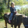 Eve (and Mom and Grandma and Grandpa and Auntie Dorothy and Graham) had to wait in line for over a half hour so she could ride the pony at Pinetree Apple Orchard.<br /> Oct 3, 2010