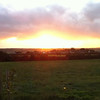 Sunset over St Issey