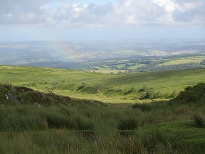 Rainbow on the moor, near Ryders Hill, Dartmoor. Taken on 30th June 2012.