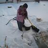 Grannie shovels