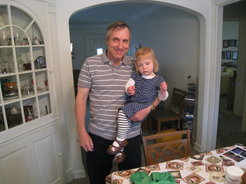 Grandpa and Eve at Great-Grandma's<br /> March 25, 2009