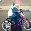 Eve riding her new bike<br /> 3/26/2011