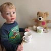 March 6, 2012<br /> Having a cup of tea with Share Bear