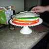 Icing Eve's birthday cake<br /> 6/6/2010