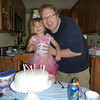 Eve posing with Dad at her birthday party<br /> 6/6/2010