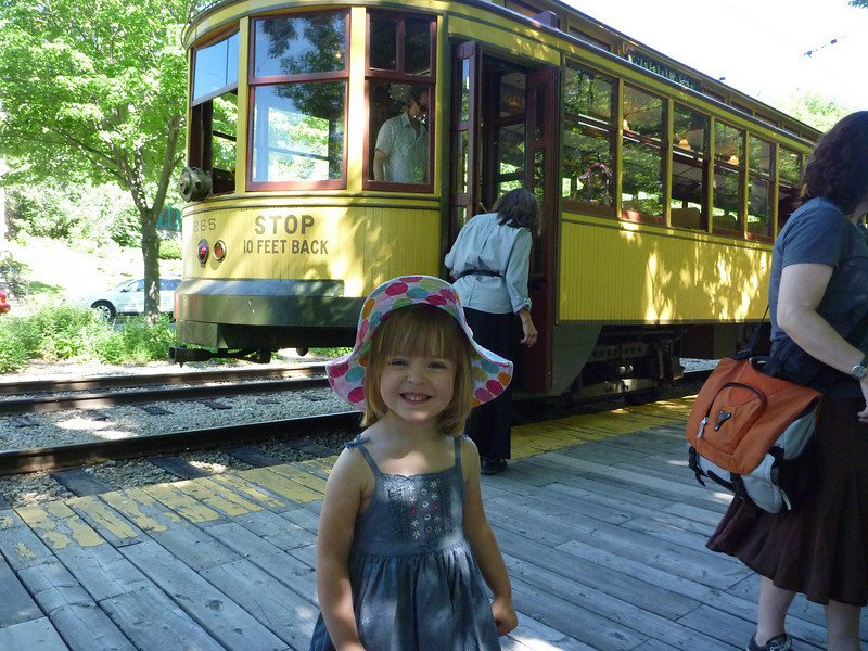 Riding the streetcar from Lake Harriet to Lakewood Cemetery on Memorial Day.<br /> 5/31/2010