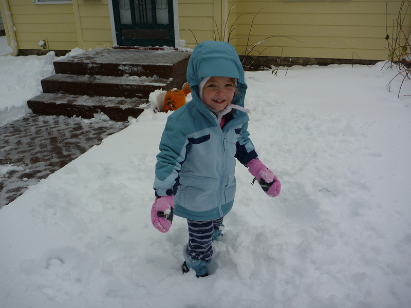 Eve enjoying the first snow of the season.<br /> 11/13/2010