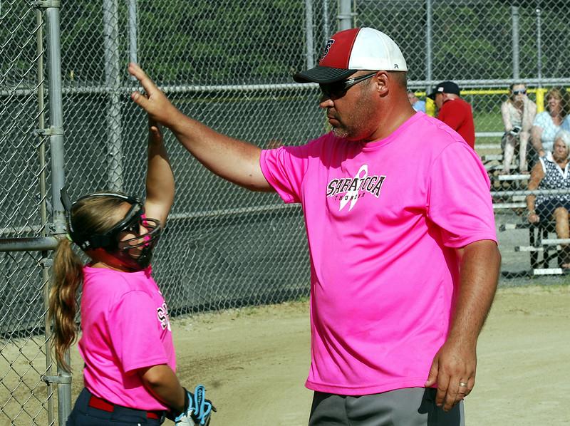 STAN HUDY - SHUDY@DIGITALFIRSTMEDIA.COM<br /> Saratoga Miss Thunder Red 10U - Coach Dave Soltis