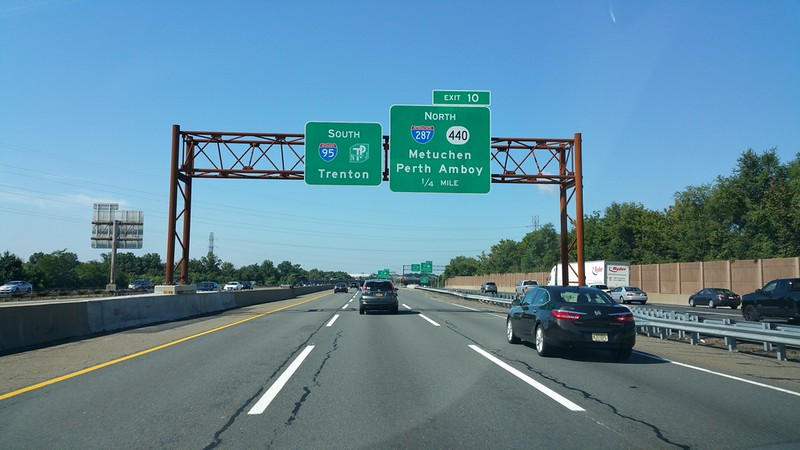 heading southbound on the drive back home --in Perth Amboy NJ