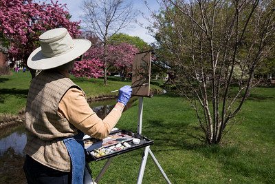 Artist colors spring to life