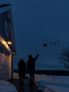 Santa was spotted over Saratoga Springs