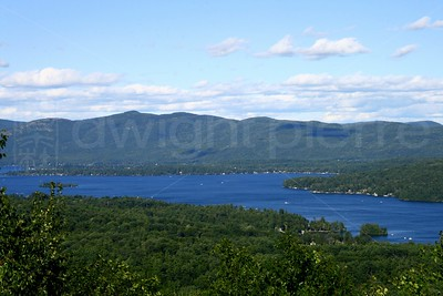 Lake George from Above / Lake George, NY / The Adirondacks Collection / 2007 Summer