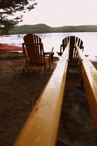 Oars on the Shore / Schroon Lake / The Adirondacks Collection /