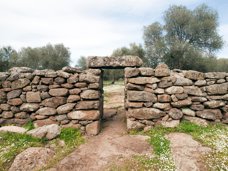 exit of large temple area at Serra Orios bronze age settlement, Sardegna<br /> <br /> Olympus E-600 & Zuiko 12-60mm/2.8-4.0