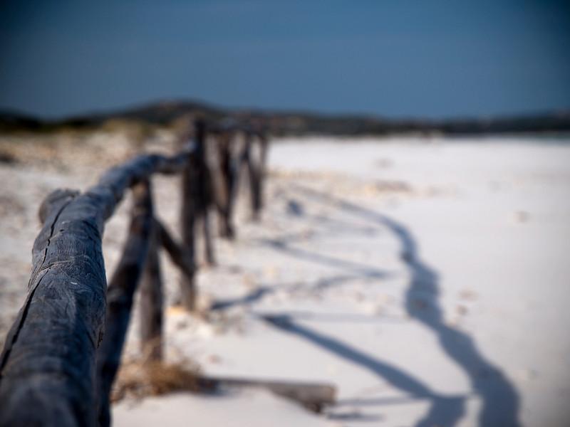 Fence, La Cinta, San Theodoro, Sardinia<br /> Olympus E-420 & Zuiko 12-60mm/2.8-4.0