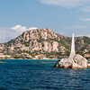 Archipelago of La Maddalena: sea view of La Maddalena island.